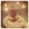 お誕生日林檎パンケーキ