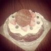 お誕生日ガトーショコラ